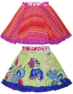 Why purchase one cute skirt for girls when you can buy two! These cute skirts for girls are reversible!  Two in one!  And did I mention they're twirl skirts?