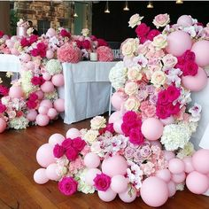 Rg : stunning event styling and design by - - amazing florals by - balloons cake by Balloon Backdrop, Balloon Garland, Balloon Ideas, Ballon Decorations, Wedding Decorations, Shower Party, Bridal Shower, Deco Ballon, Deco Originale