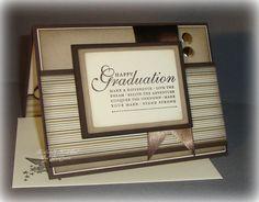 Graduation -- Brown & Cream Highschool or College --  Handmade Graduation Card. $4.25, via Etsy.