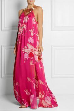 Matthew Williamson|Escape floral-print silk maxi dress|NET-A-PORTER.COM