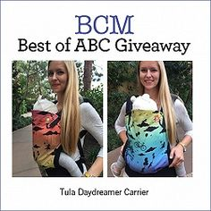 BCM Weekly Giveaway: TWO Tula Daydreamer Carriers