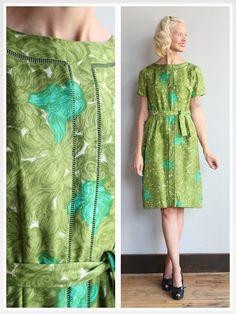 1950s Dress // Abercrombie & Fitch Silk Dress by dethrosevintage