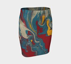 """Fitted+Skirt+""""Flow+Fitted+Skirt""""+by+Paperwerks+--+Kim+Printz"""
