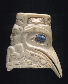 Haida Ivory Raven Face, Queen Charlotte Islands - Gorgeous!