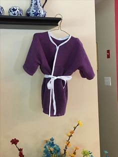 Child's bath robe made from 2 dish towels