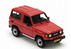 Neo Scale Models 1/43 scale model Toyota Landcruiser 70 Series 1986-92 in red. £41.99
