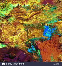 Dasht-e Kavir (Great Salt Desert) NASA thermal image