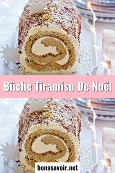 Christmas tiramisu log recipe - page 2 - good to know - cuisine Best Christmas Cookies, Christmas Desserts, Food Log, Tupperware, Vanilla Cake, Food Videos, Muffin, Yummy Food, Eat