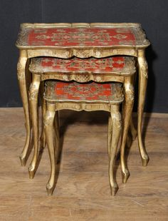 Canonbury – Antique Italian Gilt Nest of Tables Side Table Painted 1930 Antique Italian Gilt Nest of Tables Side Table Painted 1930 French Furniture, Luxury Furniture, Painted Furniture, Handmade Furniture, Diy Furniture, Bohemian Living Rooms, Indian Home Decor, Nesting Tables, Interior Decorating
