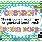 This bright-colored chevron and polka-dot theme pack is the perfect way to spruce up your classroom this year.  This pack (over 120 pages) includes...