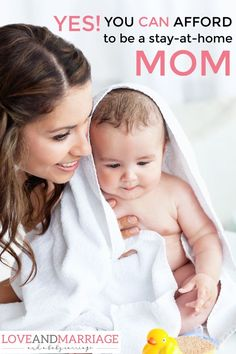 You can totally afford to be a stay-at-home-mom! Here are some real world tips with lots of great advice from other moms who have done it.