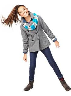 Cute outfit for girls from @Donna Maywald Navy
