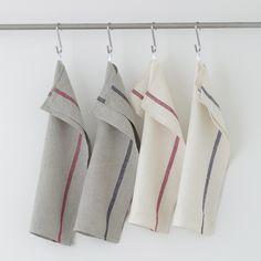 Thick Linen Kitchen Cloth: Natural/Red – Shop Fog Linen