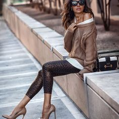 image of erica hoida ( wearing leggings by l'agence - Fall Fashion Trends & Outfit Ideas Mode Outfits, Trendy Outfits, Fashion Outfits, Womens Fashion, Street Style 2018, Autumn Street Style, Fall Fashion Trends, Autumn Fashion, Instagram Mode
