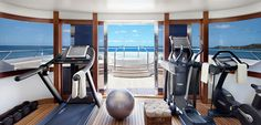 Indoor yacht gym