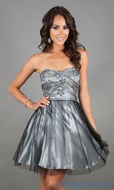 Dress, Short Strapless A-Line Homecoming Dress - Simply Dresses