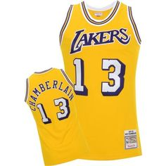 Mitchell   Ness Los Angeles Lakers Wilt Chamberlain 1971-72 Hardwood  Classics Authentic Home Jersey 2d26d7cfd
