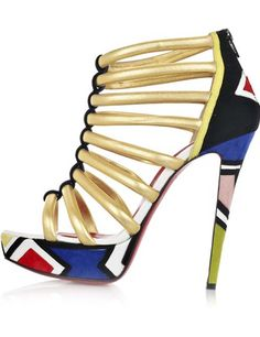 6744c37a080c What a cute shoe for the spring. This strappy platform shoes make a great  compliment to any summer outfit! Marj Samms · Red Bottom ...