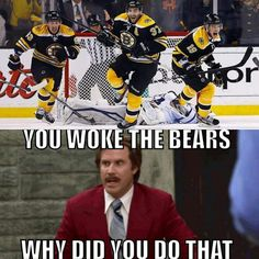 Boston Bruins #dontpokethebear ... BTW the facial expressions are #priceless