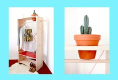 The Planter Closet With a functional, minimal aesthetic and a touch of red.