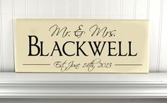 Personalized Wedding Gift Sign Mr and Mrs with by CRSWoodDesigns, $35.00