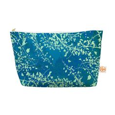Kess InHouse Everything Bag Tapered Pouch by  Iris Lehnhardt 'Twigs Silhouette Teal' Aqua Green, 12.5 x 7 Inches (IL2033AEP04) ** Read more  at the image link.