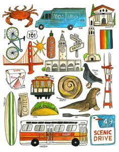 For the Love of San Francisco - Illustration by Lisa Congdon
