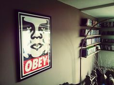 OBEY artwork in my livingroom (By Shepard Fairey).