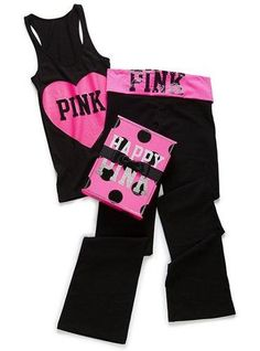 0c3791b8c3 pink yoga clothes are my FAVORITE workout gear..just wish they weren't. Victoria  Secret ...