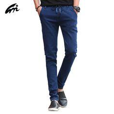 >> Click to Buy << Elastic Jeans men Brand New 2017 Men Designer Jeans Spring Autumn men Famous brand Full length Regular Straight man Jeans pants #Affiliate