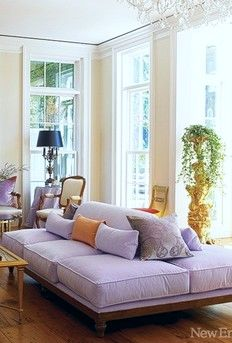 19 Spaces Made Beautiful By Unique  Furniture Choices ➤ http://CARLAASTON.com/designed/interior-decorate-eclectic-furniture #unique #livingroom #purplecouch