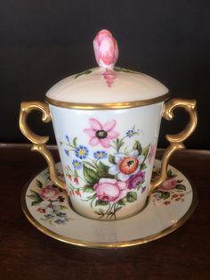 Tasse Couverte En Porcelaine De Limoges, Dartigoeyte, Proantic