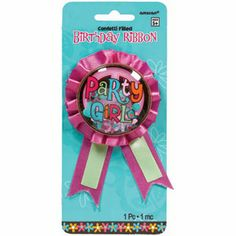 Hippie Chick Birthday Award Ribbon