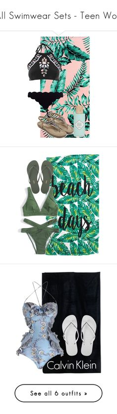 """All Swimwear Sets - Teen Wolf"" by clawsandclothes ❤ liked on Polyvore featuring casual, swimwear, TeenWolf, inspiration, PBteen, Topshop, Marysia Swim, Benefit, BCBGeneration and Tkees"