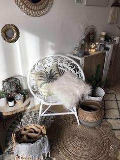 Scandinavian interior design / Bohemian inspiration / Decoration / Burlap / Baskets - New Deko Sites