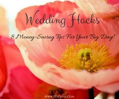 For all my brides on a budget.we give you 8 money-saving wedding hacks to help you shave off dollars for your big day! Wedding Tips, Wedding Blog, Wedding Planning, Wedding Hacks, Take Care, Money Saving Tips, Big Day, Knowing You, Budgeting