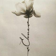 Flower name tattoo