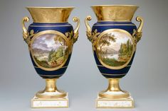 Pair of vases in the Blue Room, Artist unknown, 1817