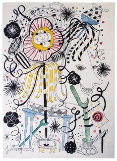 Jaime Hayón – Bouffon au talent inouï – PERSPECTIVE Japanese Folklore, Tapis pour Nodus www.questiondeperspectiveblog.com
