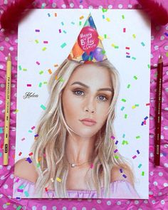Drawing of Claire Holt. tags: art the vampire diaries the originals art rebecca mikaelson h2o just add water emma 2017 birthday claire holt hodarts prismacolor