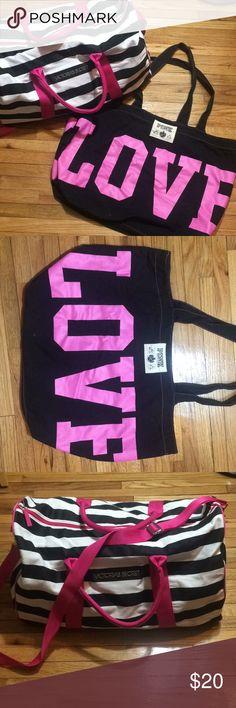 Victoria Secret Bag Bundle Love Pink Tote 21*14*7, fair Condition VS Duffle Bag with removable strap, 21*12*10 excellent Condition Bags