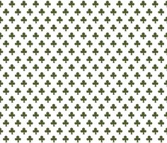 Indian Clover in moss fabric by domesticate on Spoonflower - custom fabric