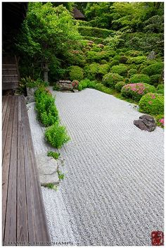 Terrace on rock garden, Konpuku-ji temple