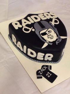 Sensational 12 Best Raiders Cake Images Raiders Cake Raiders Raiders Baby Funny Birthday Cards Online Inifofree Goldxyz