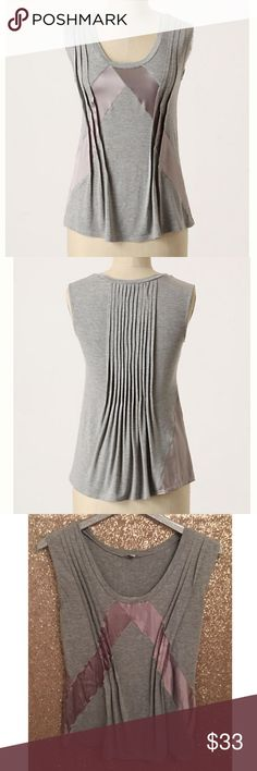 """Anthropologie Recherche Tank by Bordeaux Sz M EUC! 🔹Bordeaux from Anthropologie  🔹Recherche Tank  🔹Refined by silk, defined by texture, this knit scoopneck exemplifies lavish elegance. Stretch knit.  🔹Size L, but better for size Medium  🔹Rayon, spandex, silk  🔹Excellent used condition!  🔹Bust: 16"""" across the front, lying flat. Has stretch.  🔹Length: 24.5"""" from shoulder to hem.   ✳️ Bundle to Save 20%!  ❌ No Trades, Holds, PP, Modeling  🎀 100% Authentic!   ⭐️⭐️ Suggested User • 1600…"""