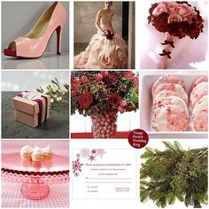 Pink and Red Winter Wedding Theme. never htought those two would go together