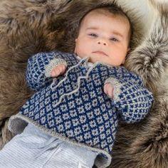 Järbo Blød babytrøje m mønster