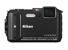 Nikon COOLPIX AW130 Waterproof Digital Camera with Built-In Wi-Fi (Black). Waterproof up to 100ft; freezeproof to 14 degrees Fahrenheit; shockproof for drops up to 7 feet. 5x optical zoom NIKKOR ED wide-angle glass lens. Capable of taking up to 5 shots per second. Built-in Wi-Fi and NFC for easy transfer to your smartphone. Built-in GPS, mapping, Electronic Compass and Points of Interest (POI).