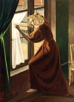 """amare-habeo: """" Balthus (Polish-French, Lady Abdy, 1935 Oil on canvas, 186 x 140 cm """" Cara Fresca, Romantic Images, Magic Realism, Modern Artists, French Art, Contemporary Paintings, Art World, Figurative Art, Les Oeuvres"""