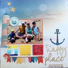 Happy_Place_Scrapbook_Layout_Ilene_Tell_BoBunny_Boardwalk.jpg 1,200×1,196 pixels